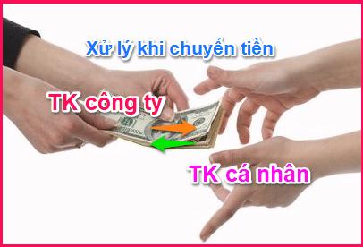 (Hình ảnh: Xử lý chuyển tiền từ tài khoản cá nhân sang công ty và ngược lại)